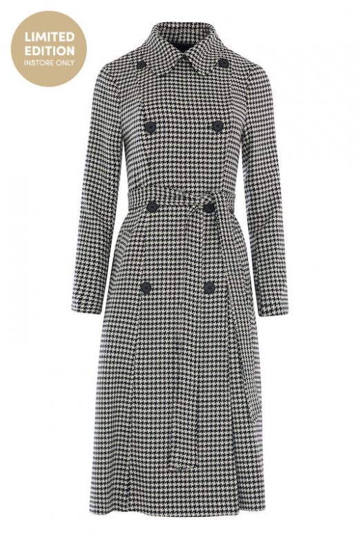DIANA KOTB Kennedy Coat Houndstooth-01